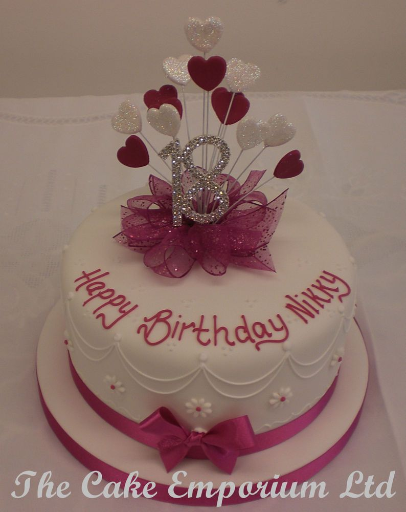 Cake Images For 18th Birthday : 18th birthday cake for girl - Google Search Cake Ideas ...