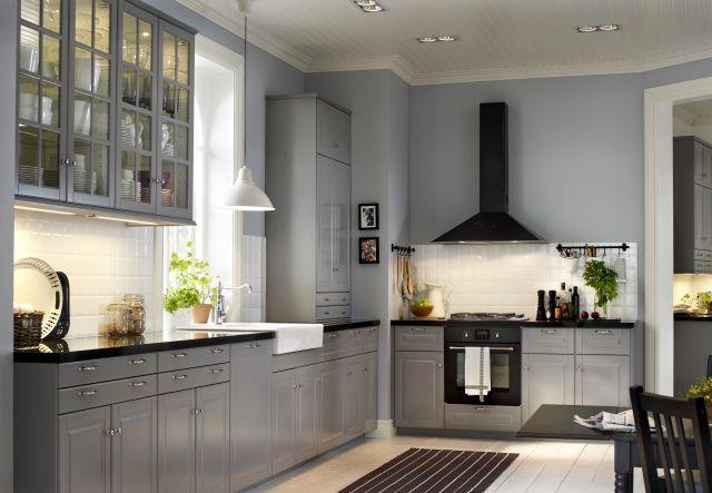 Aranzacje Kuchni Jaki Kolor Scian Wybrac Strona 8 Wp Pl Ikea Kitchen Cabinets Bodbyn Kitchen Grey Kitchen Cabinets