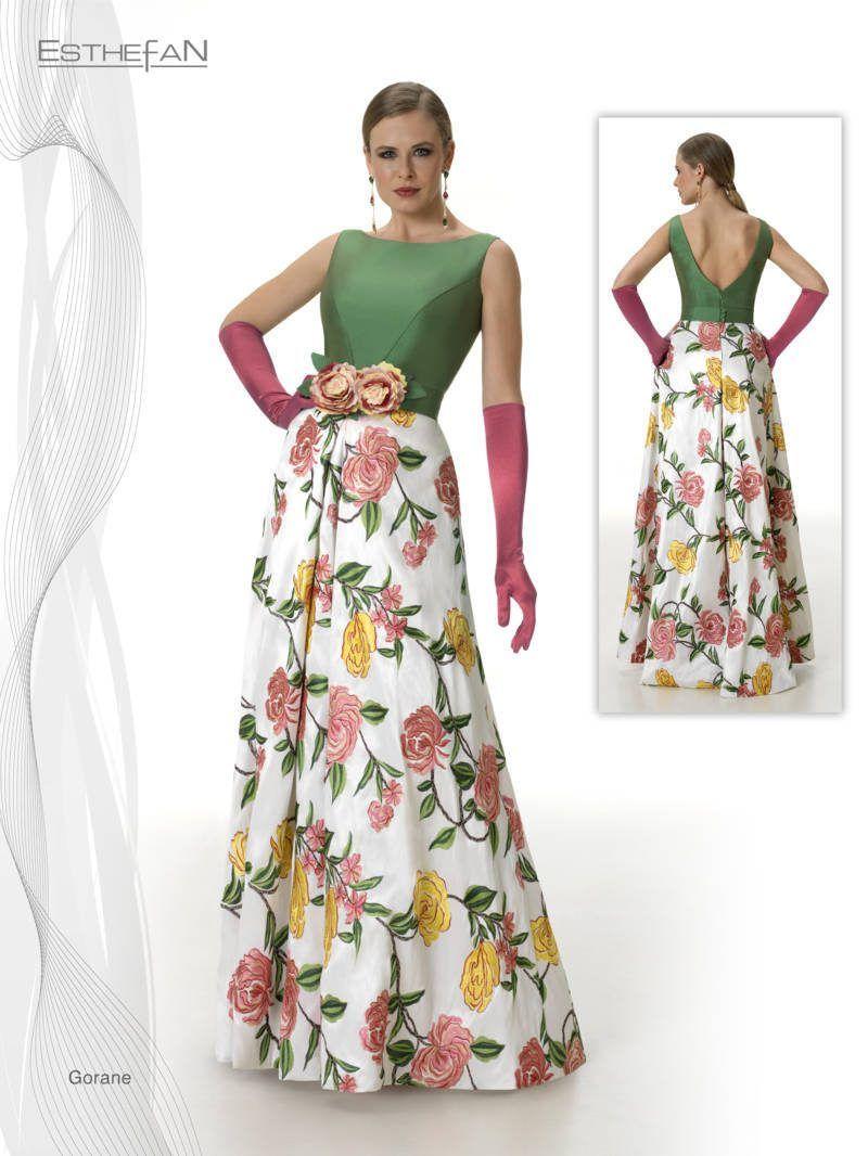 Vestidos de fiesta 2019 floreados