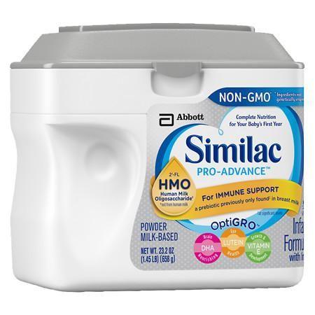 Similac Pro Advance Non Gmo With 2 Fl Hmo Infant Formula With Iron Powder Makes 178 Ounces In 2020 Baby Formula Similac Human Milk