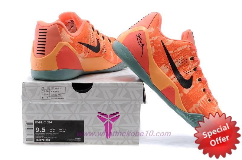 72a215ed6429 646701-880 Nike Kobe 9 Elite Low Peach Cream Bright Mango-Cannon-Medium Mint