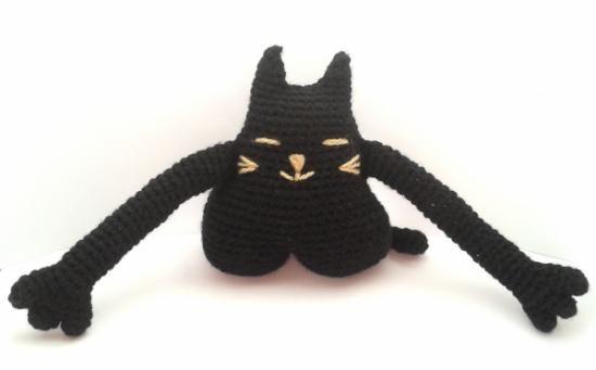 Amigurumi Gato Negro : Amigurumi gato negro la baguette magique pinterest amigurumi