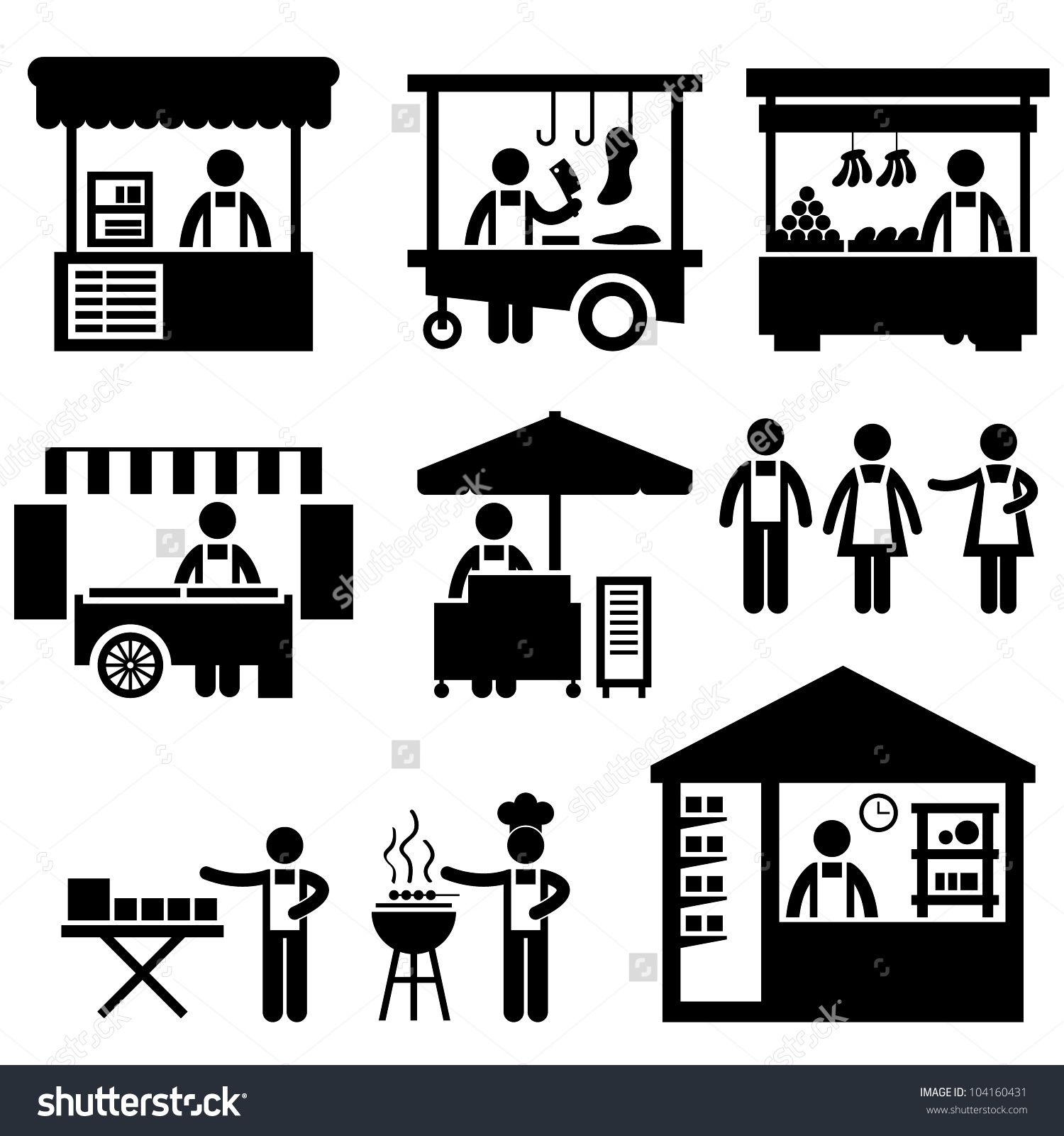 Stock vector business stall store booth market marketplace shop business stall store booth market marketplace shop icon symbol sign pictogram vectorjunky free vectors icons logos and biocorpaavc Images