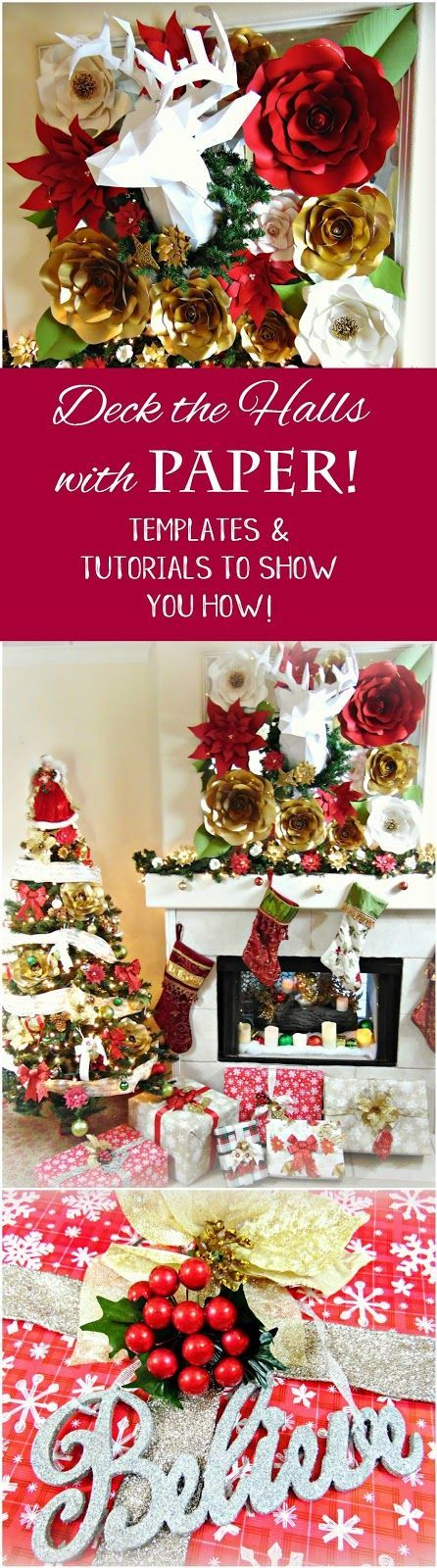 Christmas Paper Decor See Our Top Holiday Styled Roses And