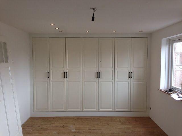 Marvelous Closet On Slope Wall | Materials: PAX Closet BIRKELAND Doors FINTORP Handle
