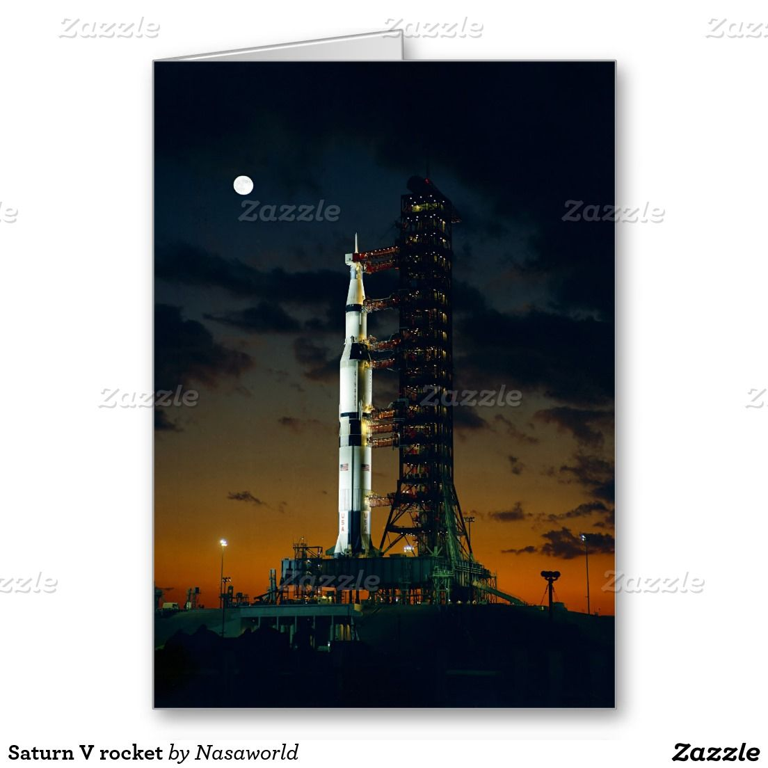 Saturn V rocket Greeting Card