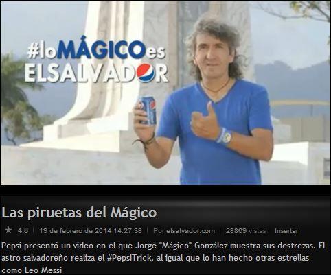 #PepsiTrick Commercial ! El Mágico González  :D