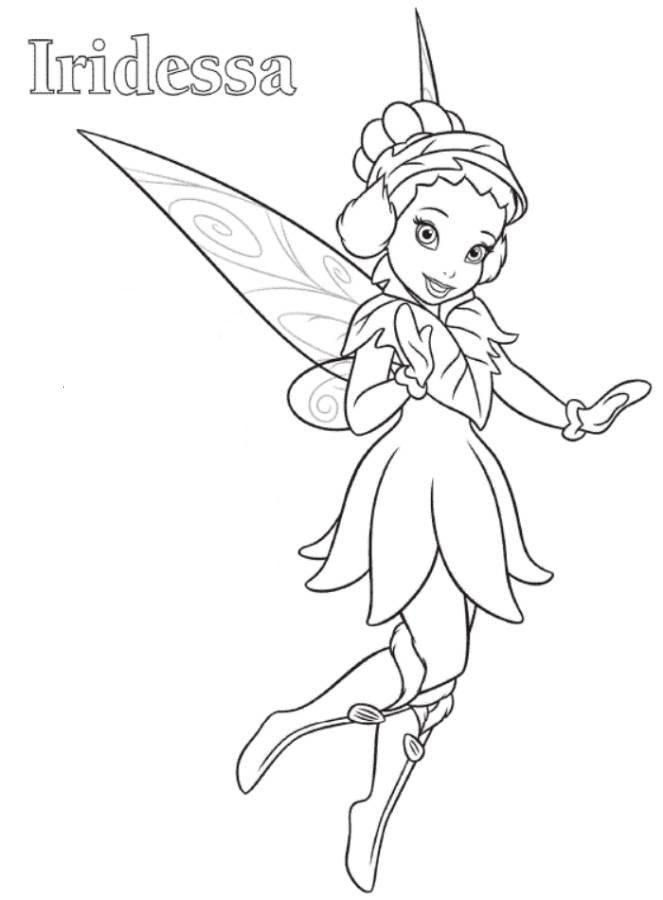 iridessa tinkerbell coloring page for Presley Dragons Fairies