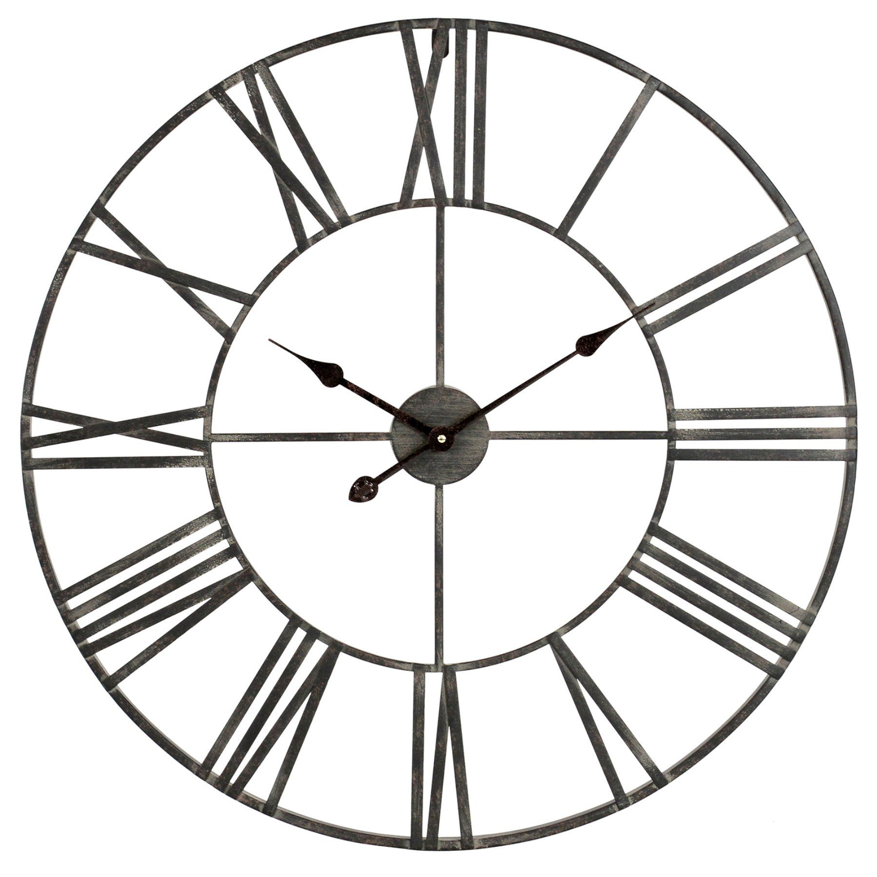 Aspire home accents solange round metal in wall clock