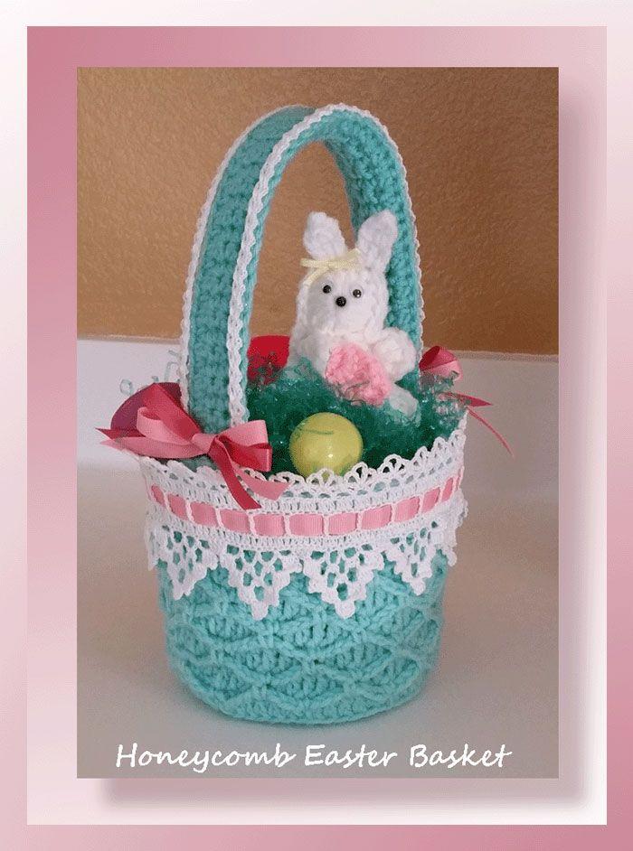 Honeycomb Easter Basket | Crochet Easter/Spring | Pinterest ...