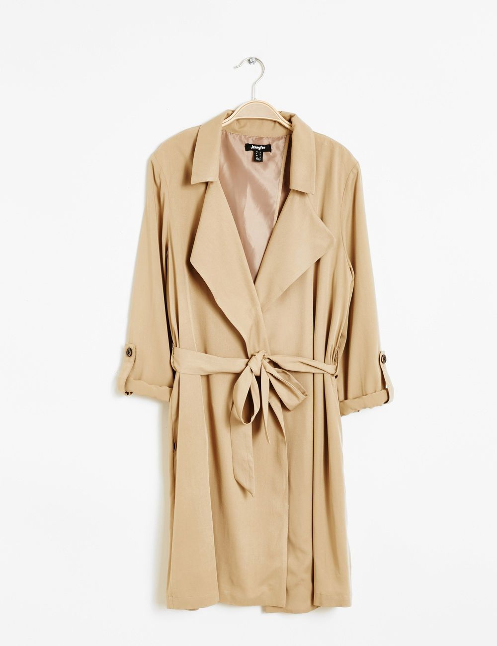 Veste trench femme beige