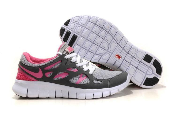 Nike Dames Free Run 2 Mesh Schoen Koolstof Perzik Wit | Nike ...