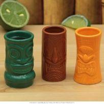 Island Tiki Gods Shot Mugs Set of 3