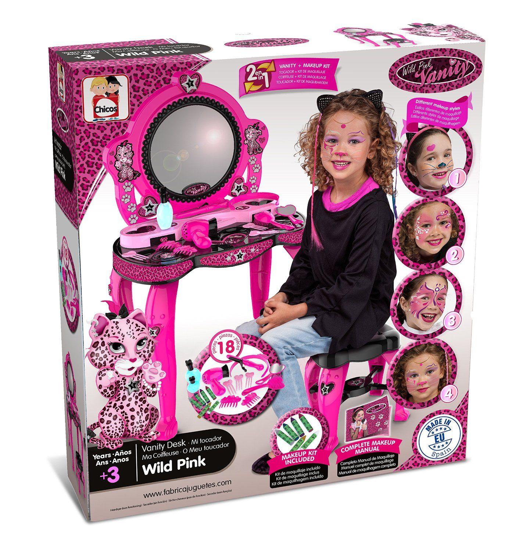 Tocador infantil de belleza wild pink fabricado en espa a f brica de juguetes chicos 87395 - Tocador infantil ...