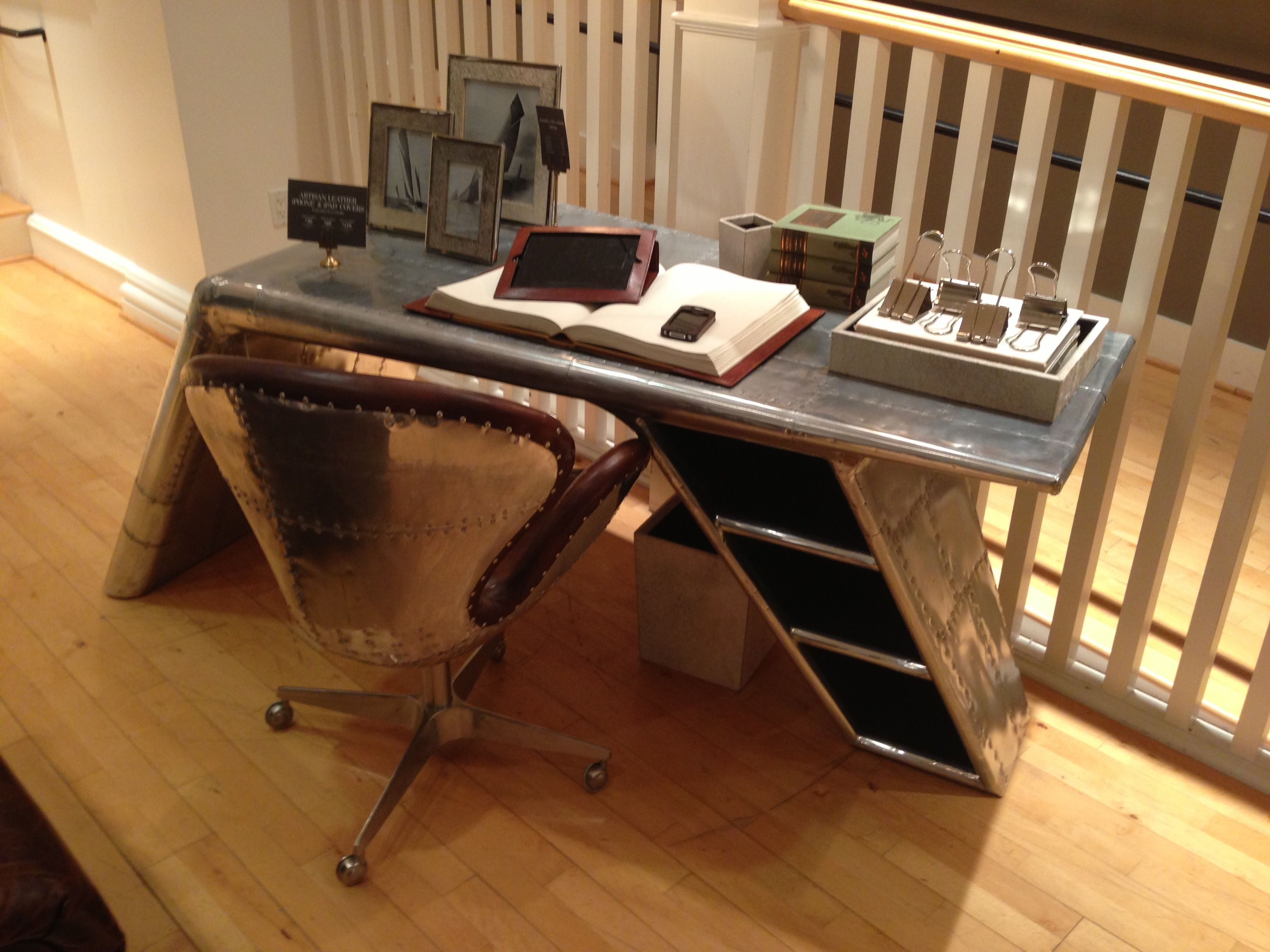 Restoration Hardware Aviator Desk Office Chairs Canada Airplane