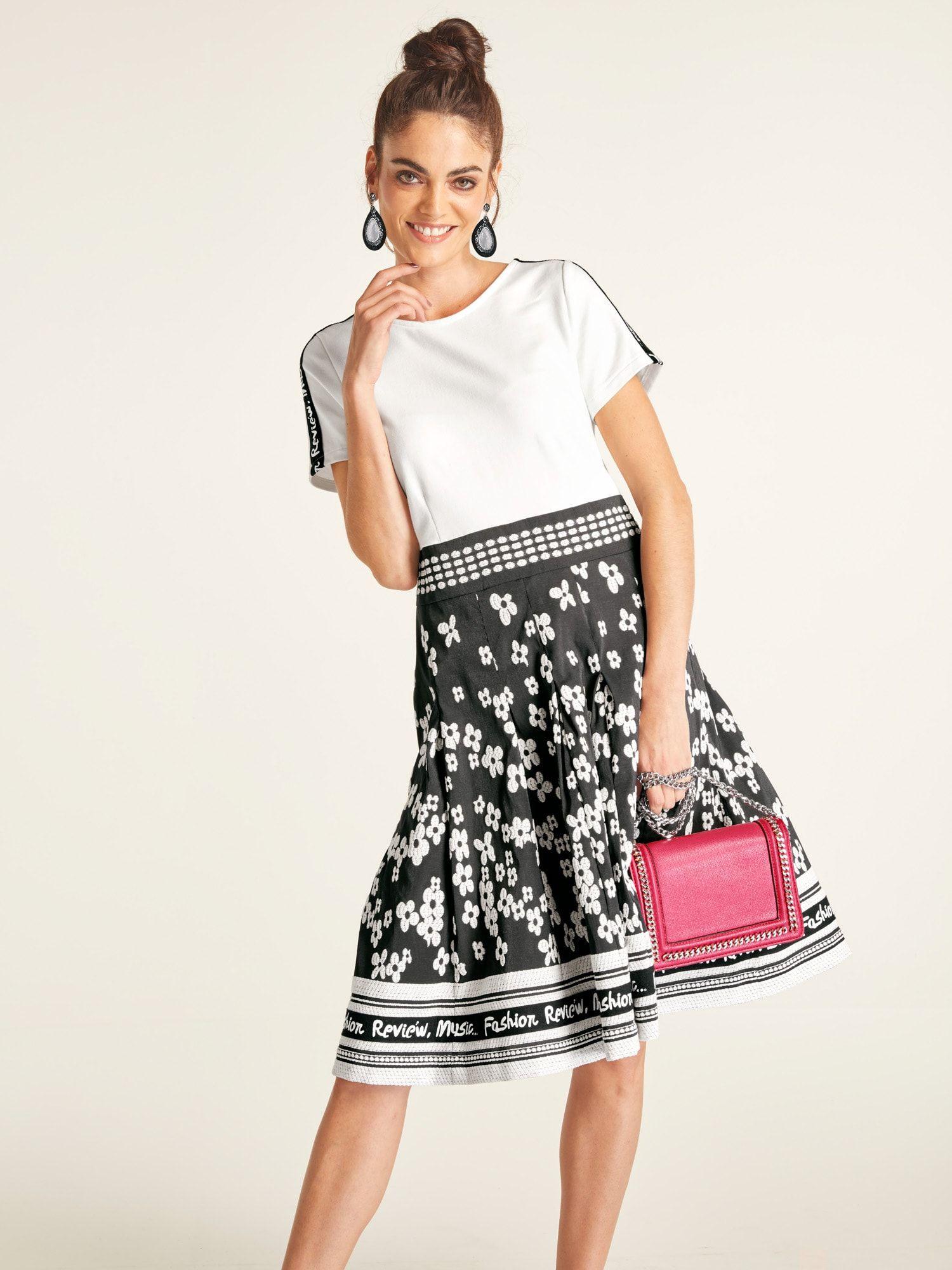 Heine Kleid Damen, Schwarz / Weiß, Größe 19 (mit Bildern