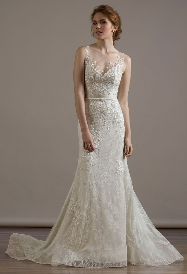 Liancarlo Wedding Dresses 2015 Incorporates Romantic Re Embroidered Lace For Fall Wedding Dress Necklines Wedding Dresses Illusion Neckline Wedding Dress