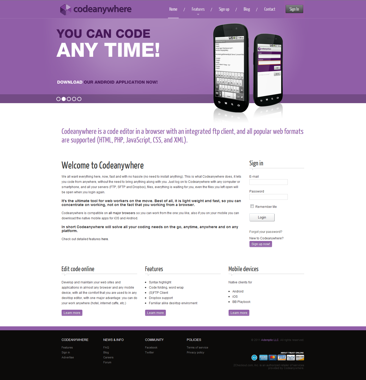 Code Anywhere Coding, Web design, Web development