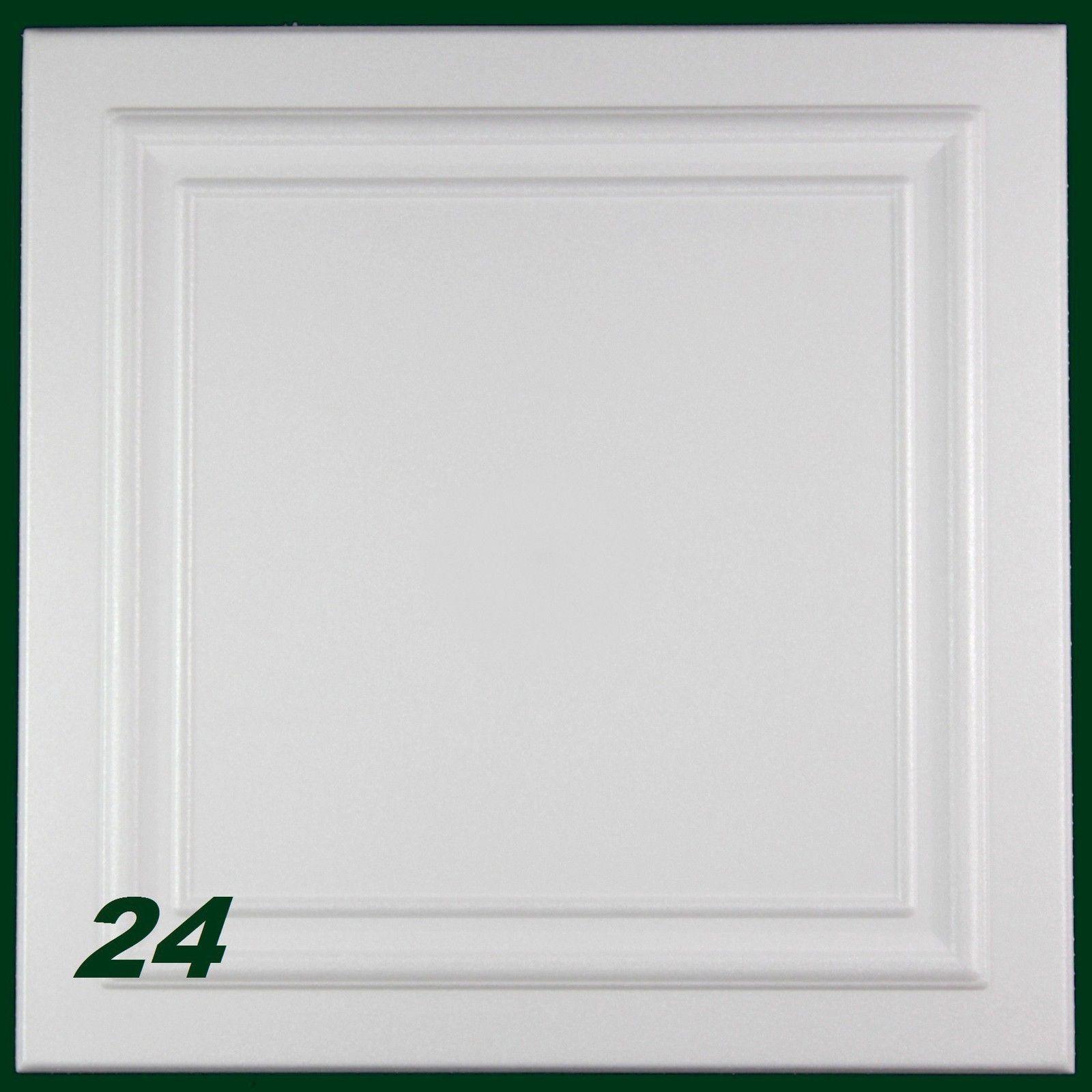 20 qm Styroporplatten Deckenplatten Stuck Platten Dekor Decke 50x50cm Nr.75