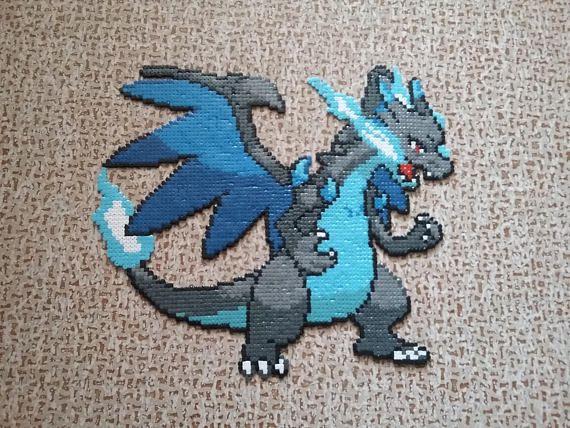 Mega Pokemon Mega Pokemon Pixel Art Et Dracaufeu