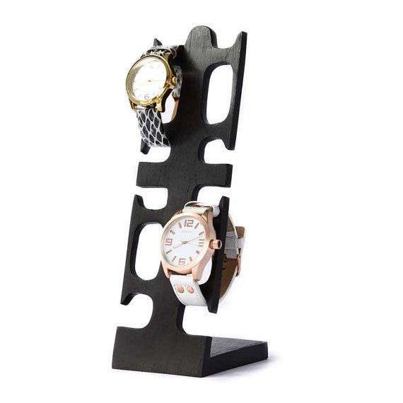 Uhrenhalter, Uhrenständer für bis zu 4 Uhren, Schmuckständer Holz ...