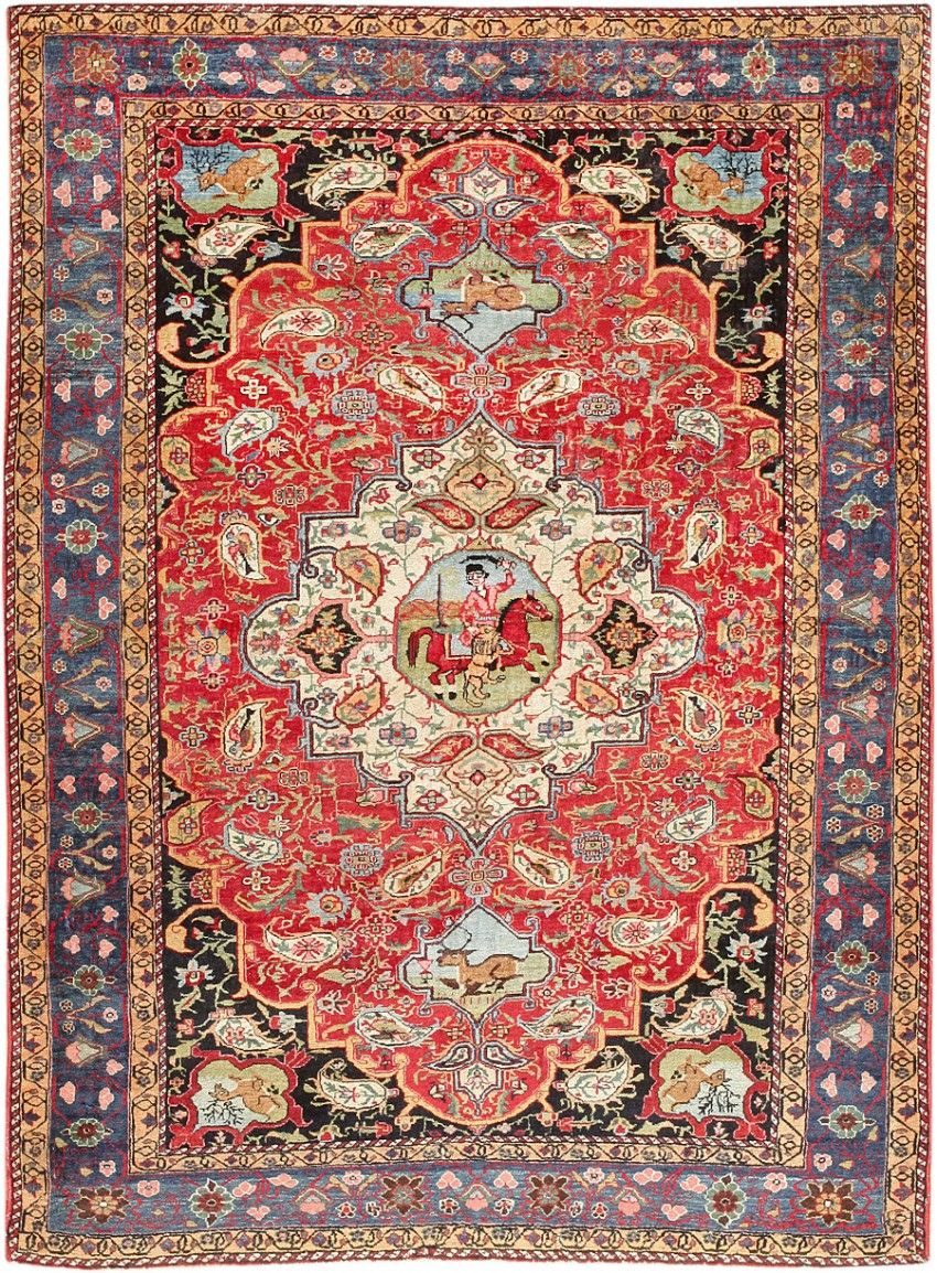 Persian Bakhtiari rug, 1.42 m x 1.83 m, 1920, Nazmiyal gallery