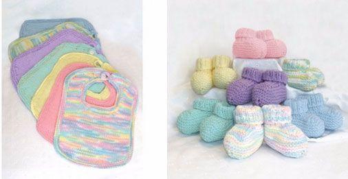 Bibs Booties Free Knitting Pattern Materials Bernat Handicrafter