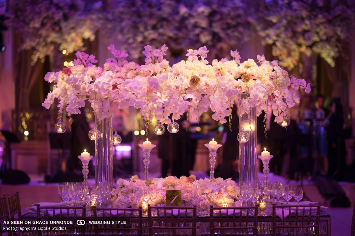 A magical evening wedding at Plaza Hotel in New York, NY | Reception ...