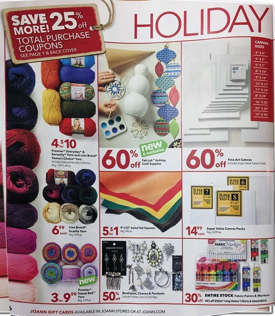 Joann Fabrics Black Friday 2018 Ads And Deals Joanns Fabric And Crafts Joann Fabrics Joann