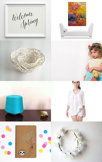 Welcome Spring by Ale on Etsy--Pinned with TreasuryPin.com