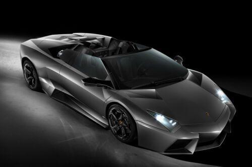 Lamborghini Black and white LAMINATED ART POSTER 24x36in 61x91cm