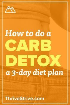 How To Do A Carb Detox The 3 Day Detox Diet Plan Carb Detox Detox Tips Detox Diet Plan