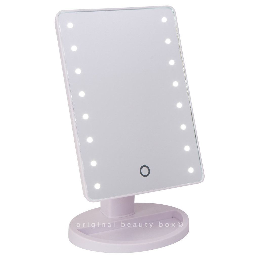 White Mini Light Up Vanity Mirror Minis Travel And Compact - Mirror on a stand vanity