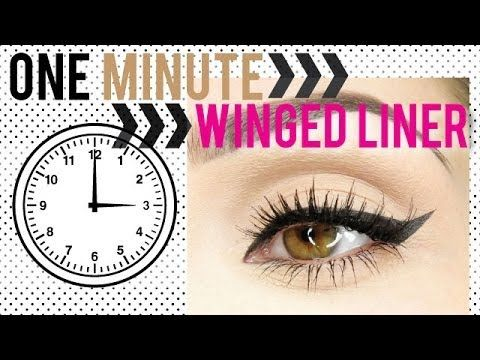 One Minute Winged Liner. Who knew it can be so easy ...
