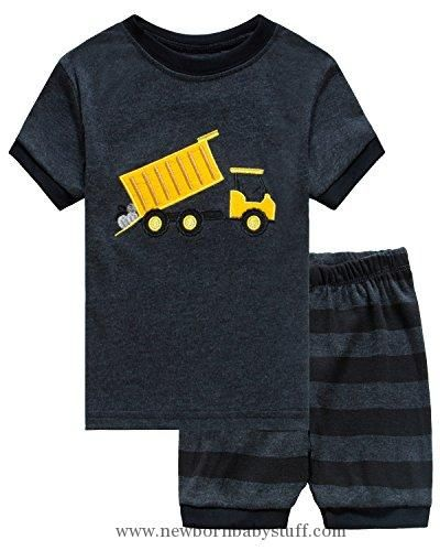 97244784f8e3 Baby Boy Clothes Family Feeling Dump Truck Baby Boys Shorts Set Pajamas  100% Cotton Clothes Infant Kid T Shirt Pants 18-24 Months