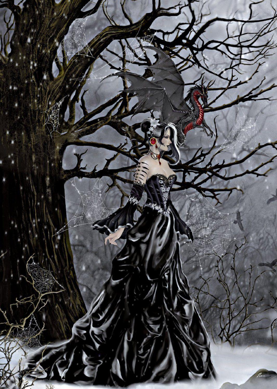 Nene Thomas - Queen Of Shadows Faeries Fantasy Art Fairy Gothic