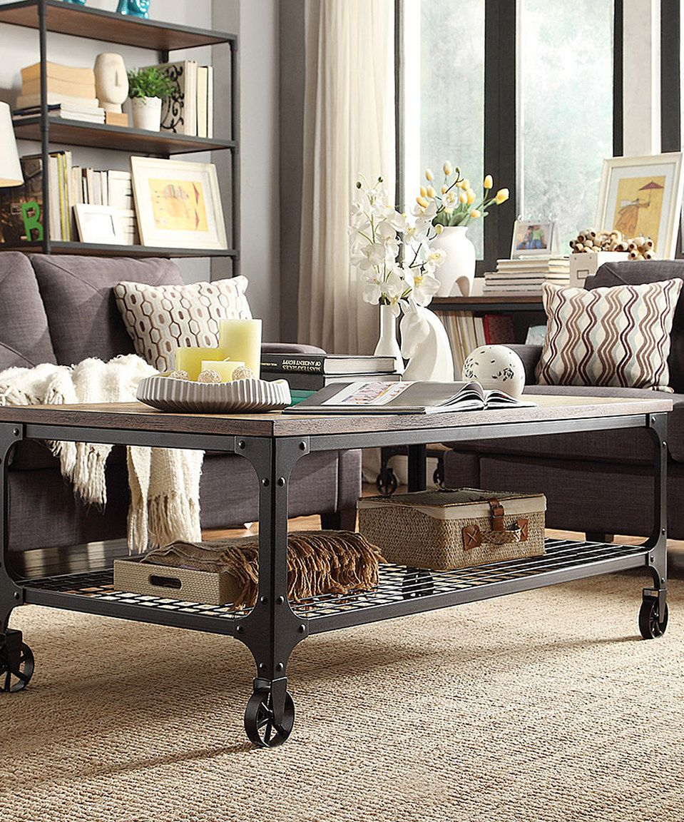 Mobile Bosworth Cocktail Table Rustic Living Room Furniture Rustic Living Room Home Decor [ 1152 x 959 Pixel ]