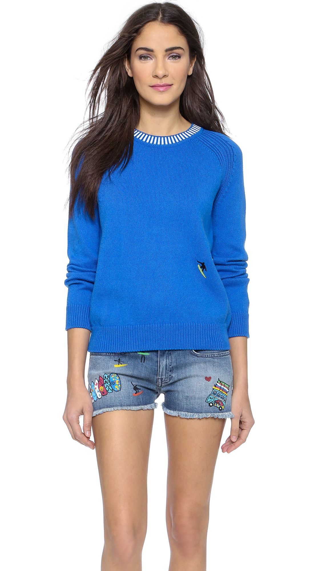 C x Mira Mikati Blue Sweater with Surfer