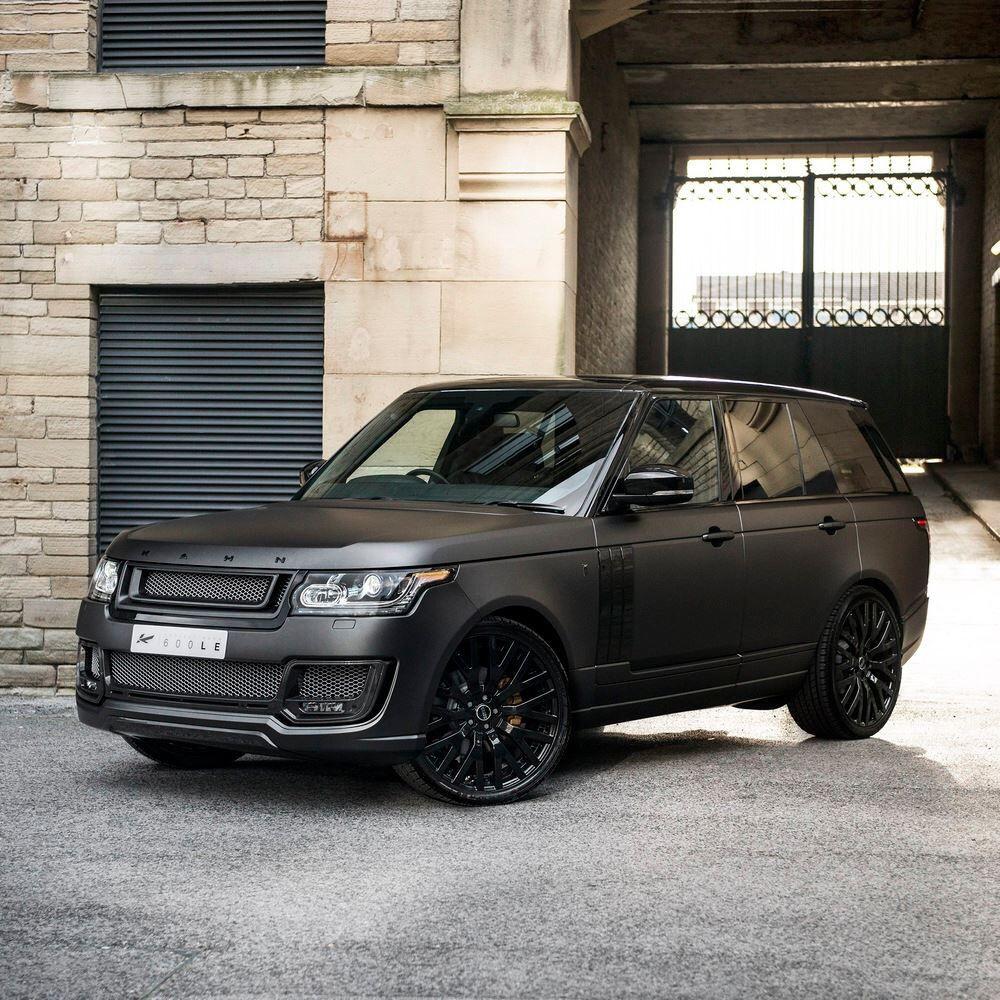 Matte black Range Rover Kahn design