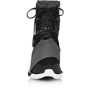 Y-3 Qasa Boot Sneakers - Charcoal/Core Black/Vista Grey