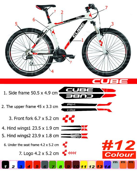 CUBE Bike Frame Sticker/Autocollant Bicycle/Mountain/Restoration ...