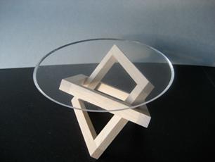 Salontisch Aus Holz Und Glas Von Karl Imfeld Schweizer Bildhauer