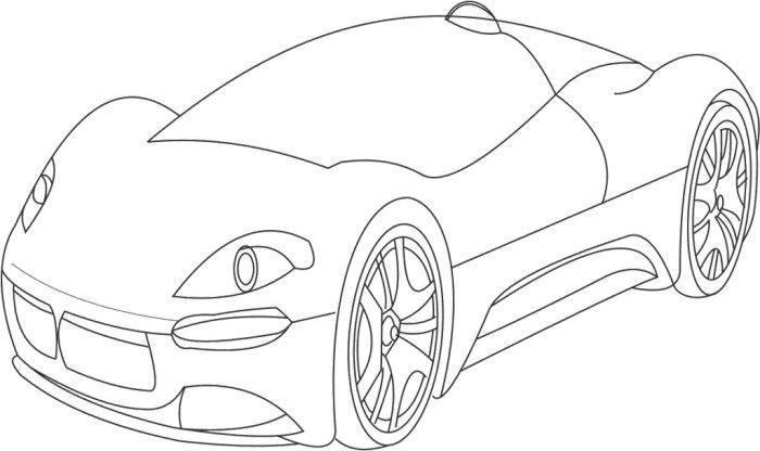 Super Bugatti Veyron Coloring Page