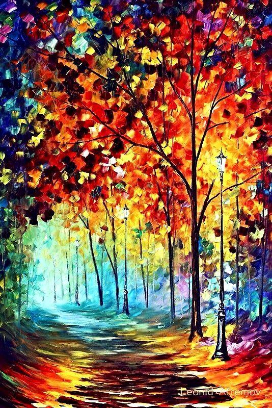 Trees Oil Painting Art Pinterest Umeni Kresby And Brizy