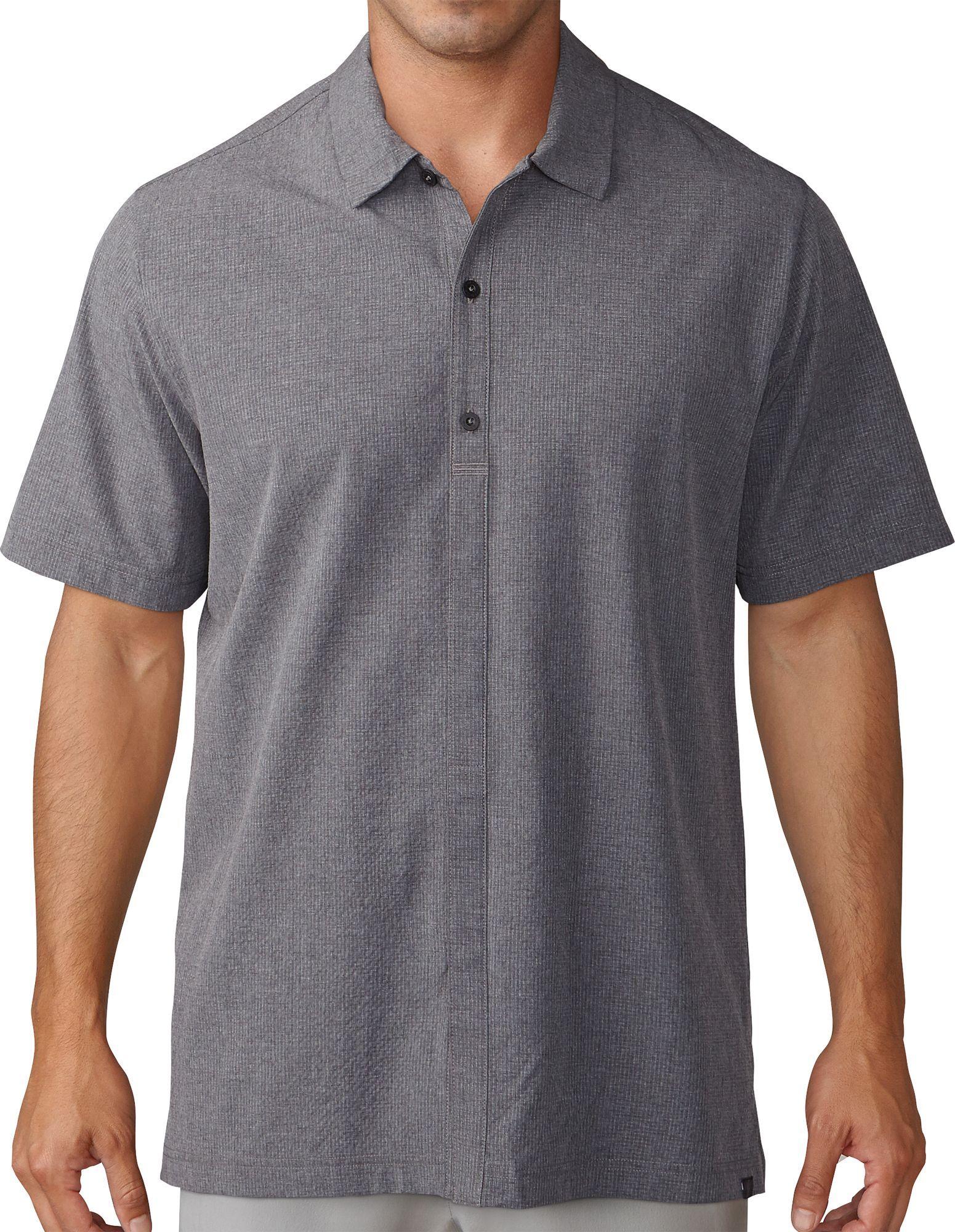 8c818f2486efe adidas Men's Adicross Woven Oxford Short Sleeve Golf Shirt, Size ...