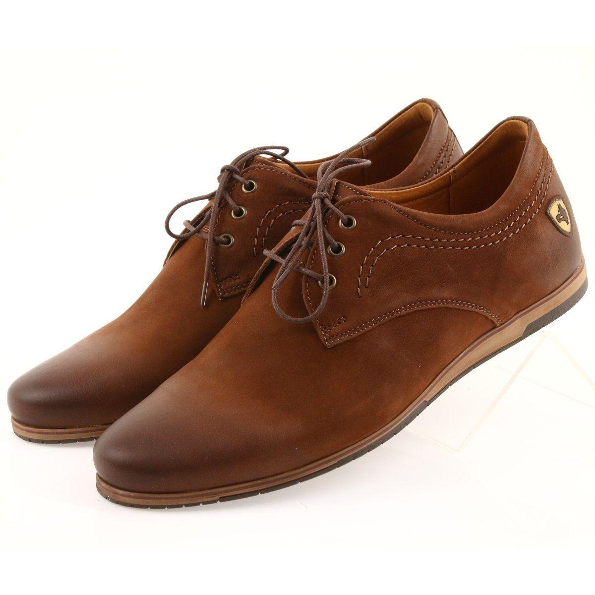 Riko Polbuty Buty Meskie Sportowe 877 Brazowe Dress Shoes Men Shoes Sports Shoes