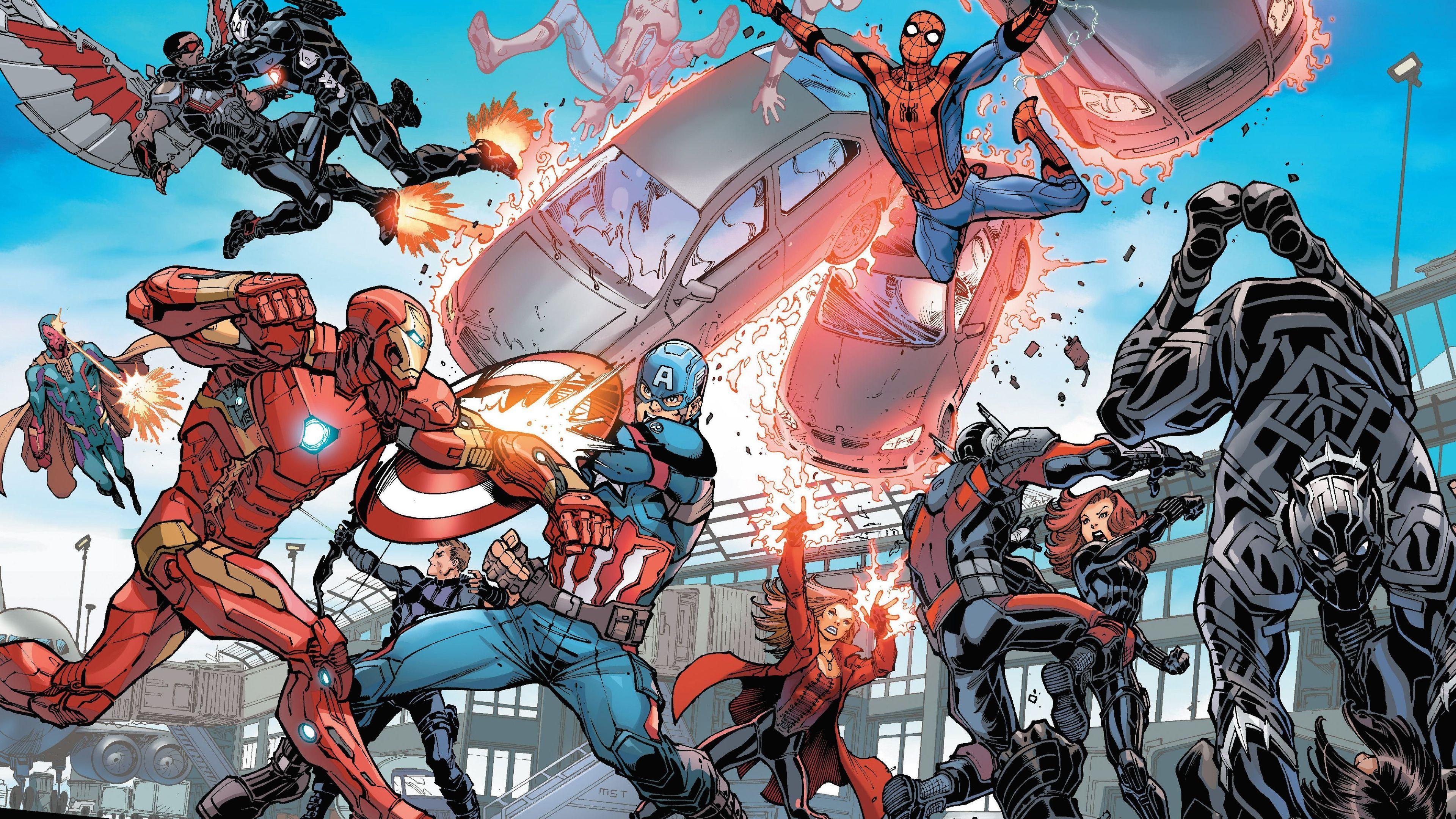 Wallpaper 4k Captain America Civil War Artwork 4k 4k