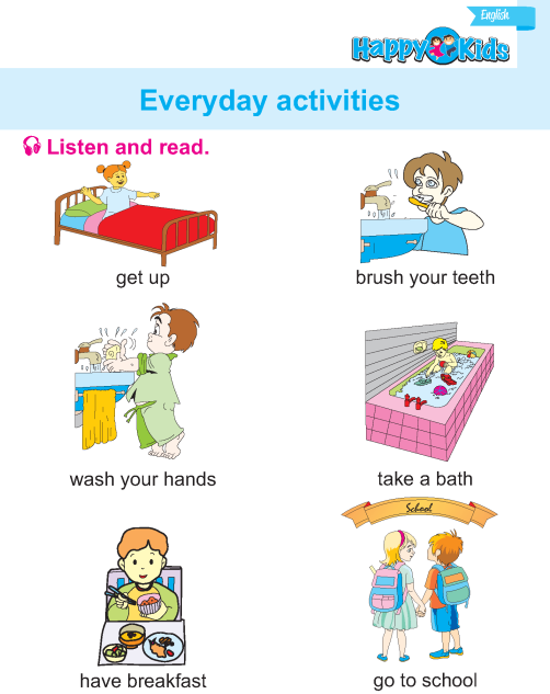 LKG English Everyday Activities | Preschool & Kindergarten ...