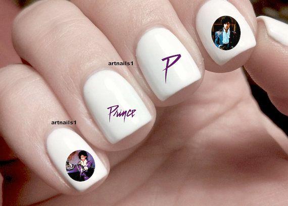 Prince Purple Rain Music Icon Rip Nail Art Nails By Artnails1