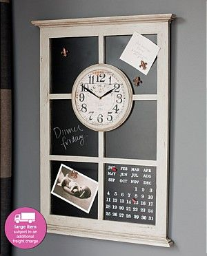 Would love this blackboard clock with magnetic blackboard and calender in my home......